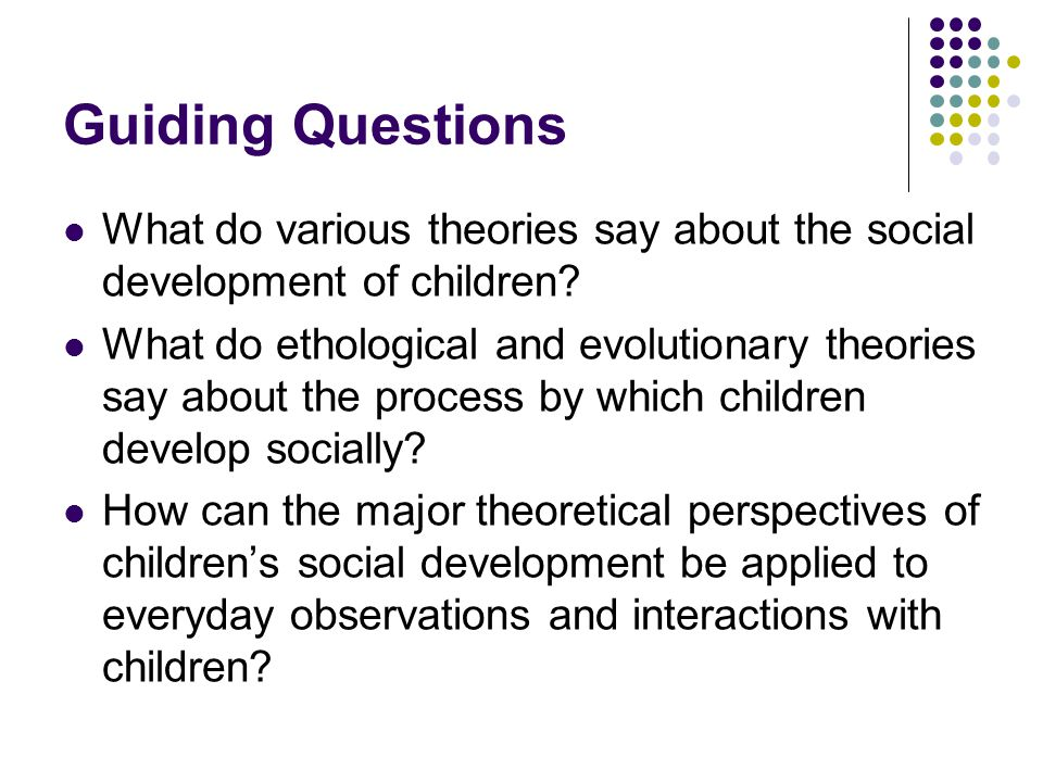how do the major theories of child development essay Learn about some of the best-known theories of child development some of the major theories of child development are and what might result if a child does.