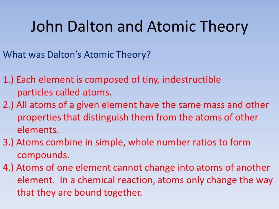 John Dalton and Atomic Theory