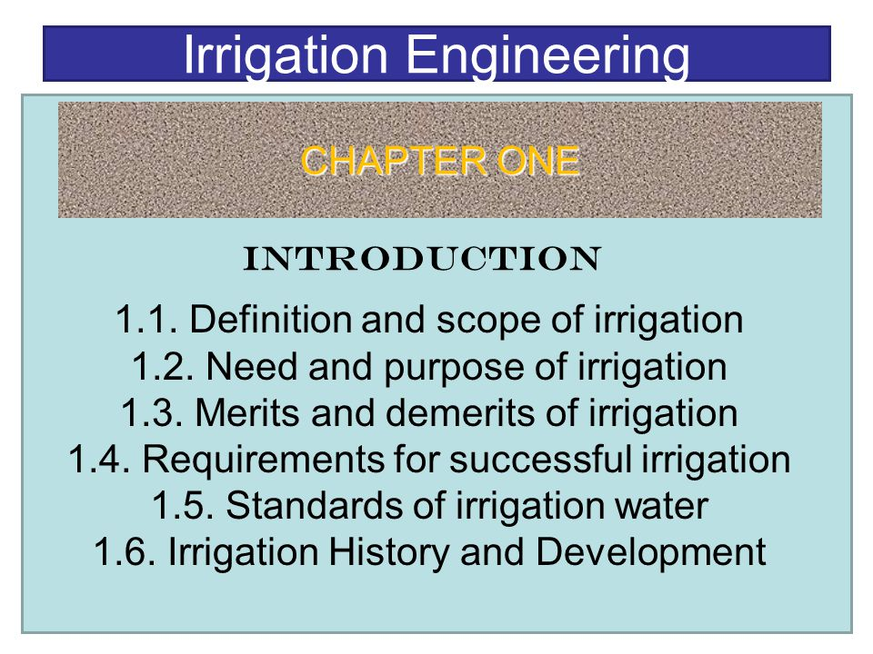 Irrigation Engineering Ppt Video Online Download