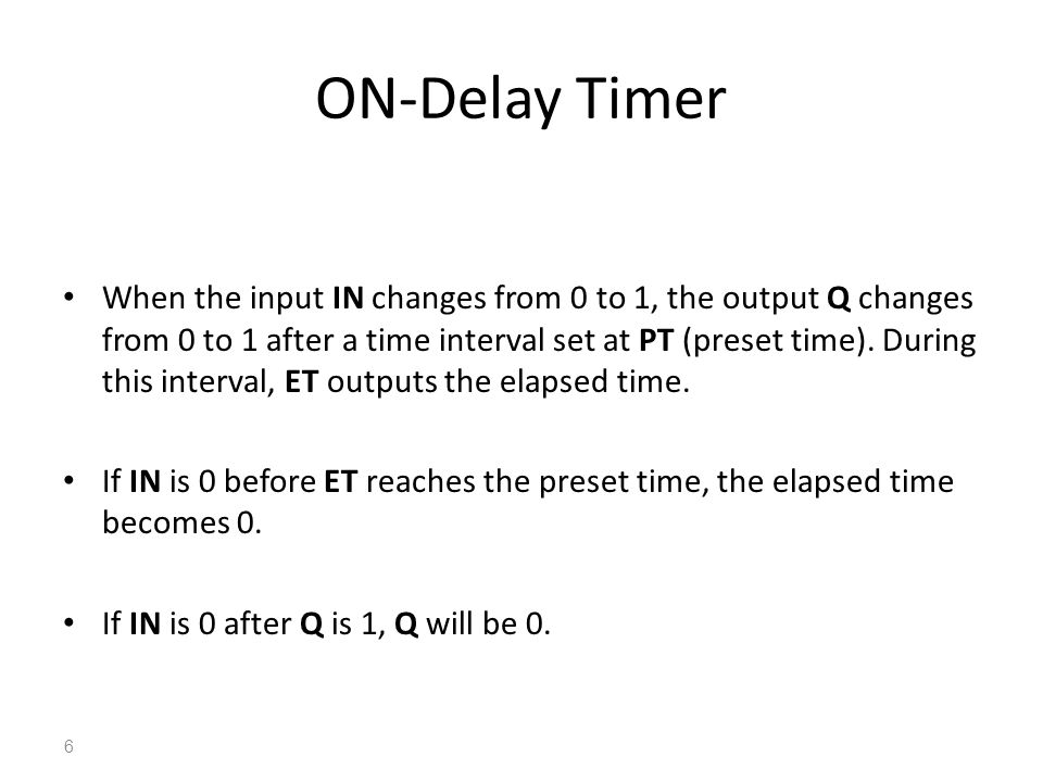 ON-Delay Timer