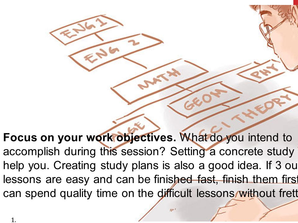 Focus on your work objectives