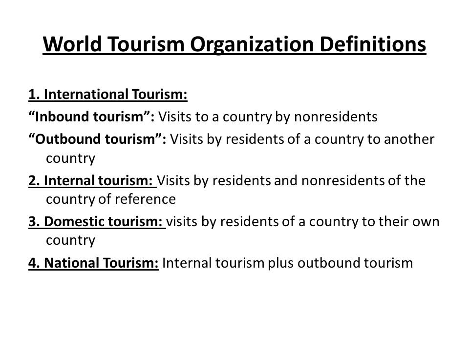 tourism definition by world tourism organization pdf