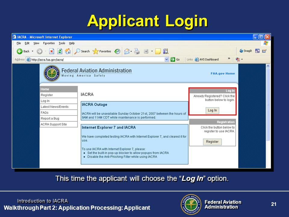 Walkthrough Part 2: Application Processing: Applicant