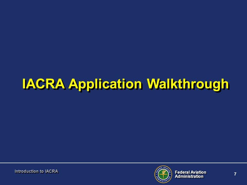 IACRA Application Walkthrough