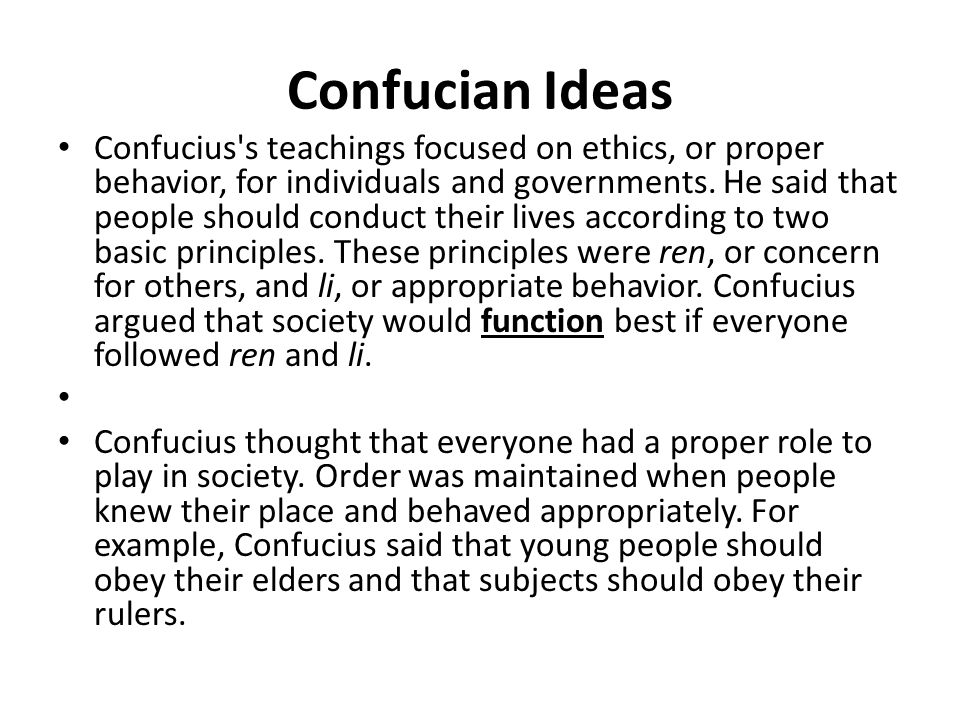 describes the ideal person according to confucius Throughout the analects of confucius, translated by chichung huang, confucius describes his disciplines for the roles, responsibilities, and duties of government leaders  a leader's primary purpose is to serve the people together, these two facets (leader  confucius' principles for leadership by christopher sands.