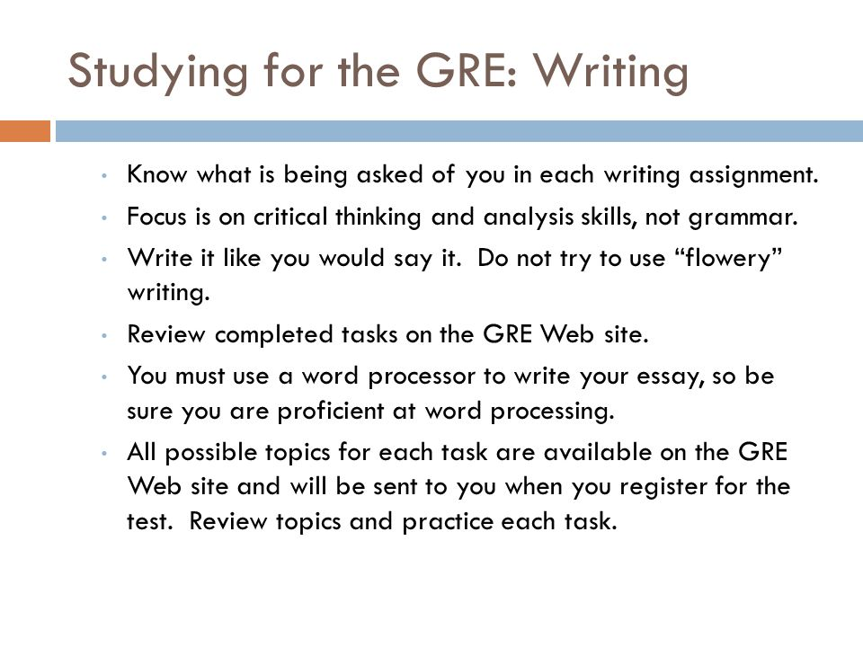 writing the gre essay New user purchase the scoreitnow online writing practice service for us$20 the service allows you to write and receive scores for two essay responses.