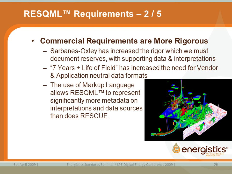 RESQML™ Requirements – 2 / 5