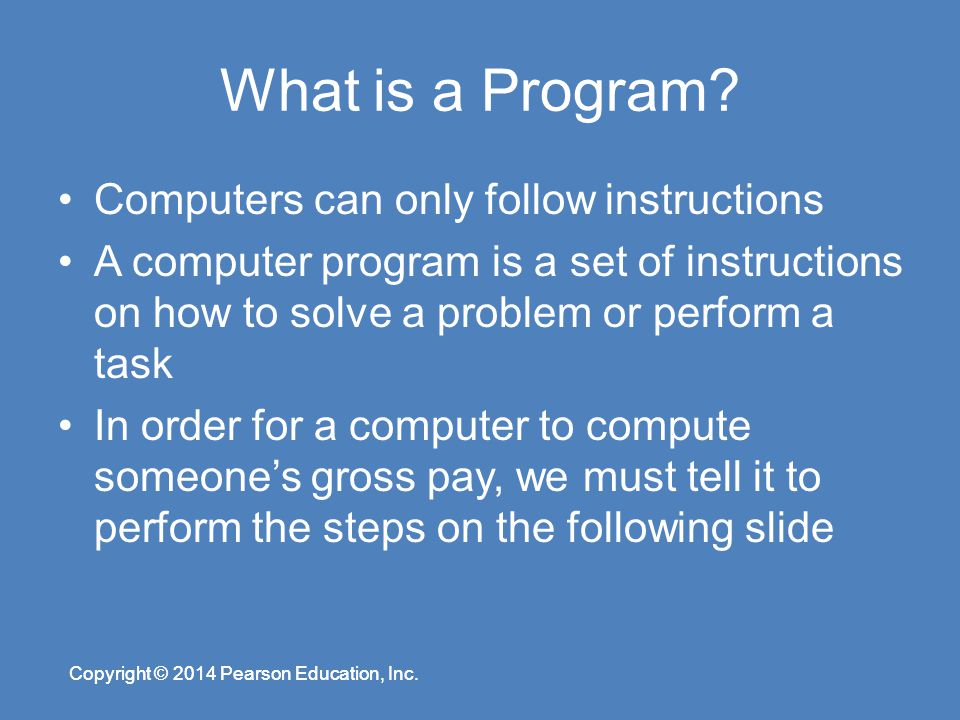 instructions for a computer to follow