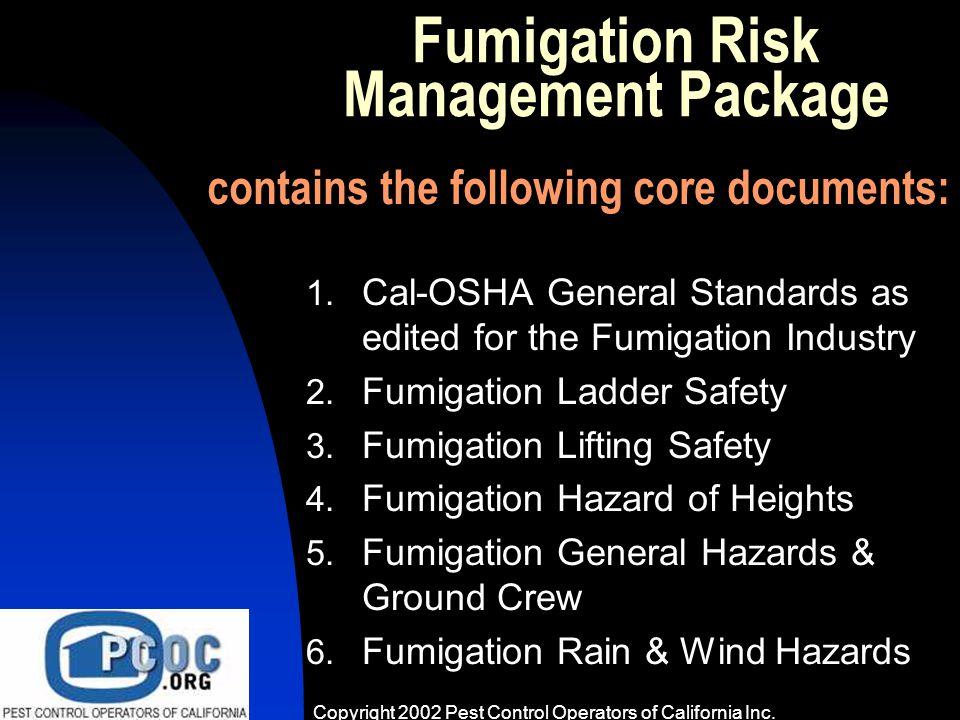 Cal Osha And Fumigation Even Some Osha Amp General Pest