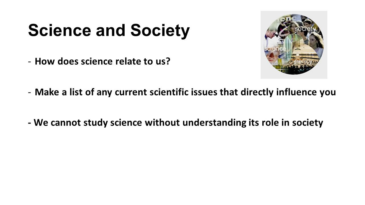 science and society relationship