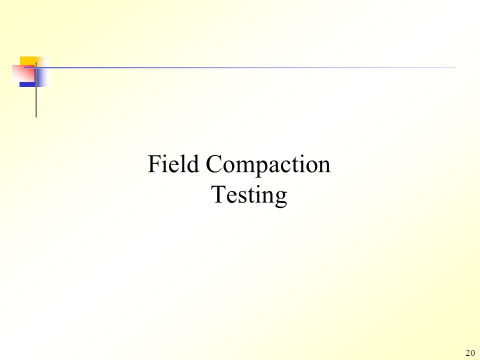 SHALLOW SURFACE COMPACTION - ppt video online download