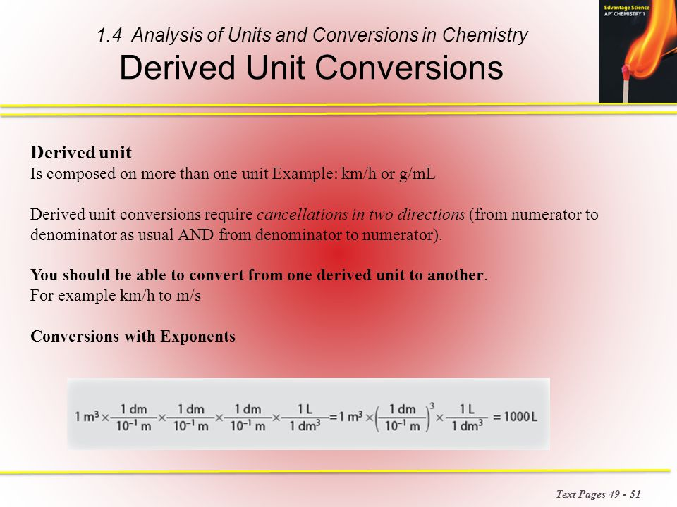 how to explain chemistry conversions