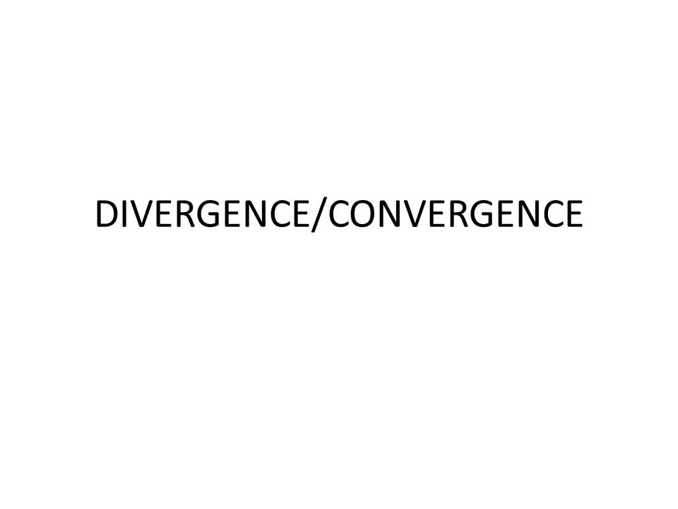 DIVERGENCE/CONVERGENCE