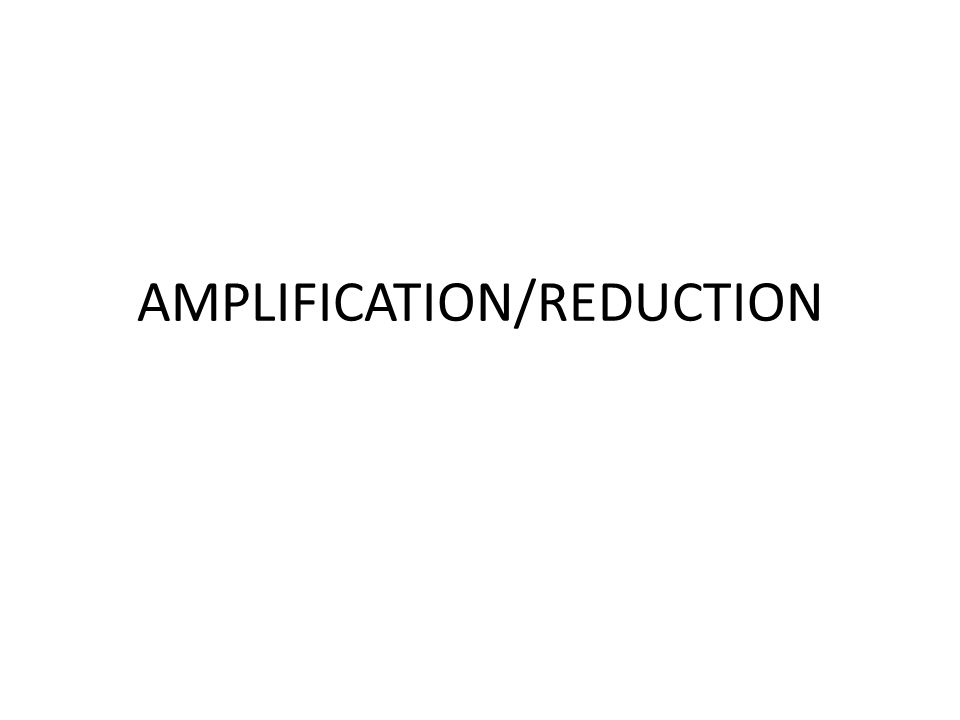 AMPLIFICATION/REDUCTION