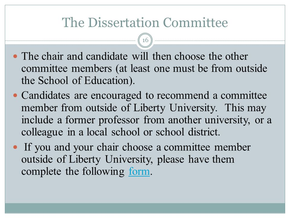 choosing dissertation committee members Dissertation statement of intent   with your adviser/future dissertation committee members and to solicit their input and help in choosing courses.
