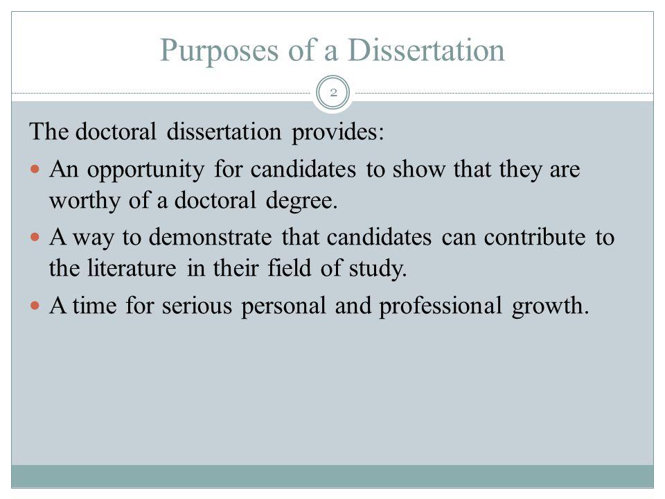 a doctoral dissertation