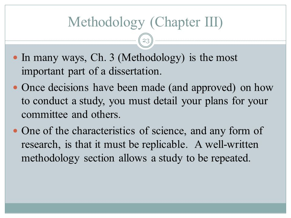 thesis chapters methodology Thesis guide 2013 -2014 preparing a thesis or dissertation additional chapters the thesis includes particular parts in an established order as listed below.