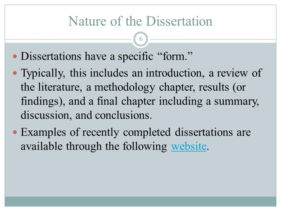 Doctoral dissertation write discussion chapter