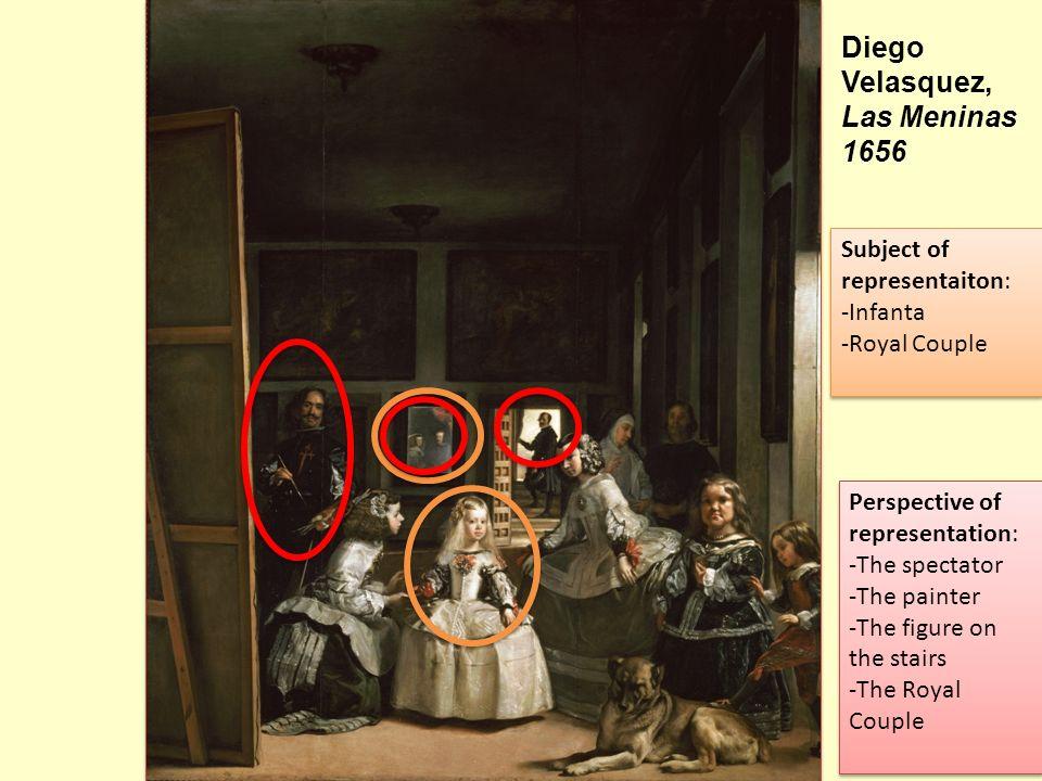 Diego Velasquez, Las Meninas 1656 Subject of representaiton: Infanta