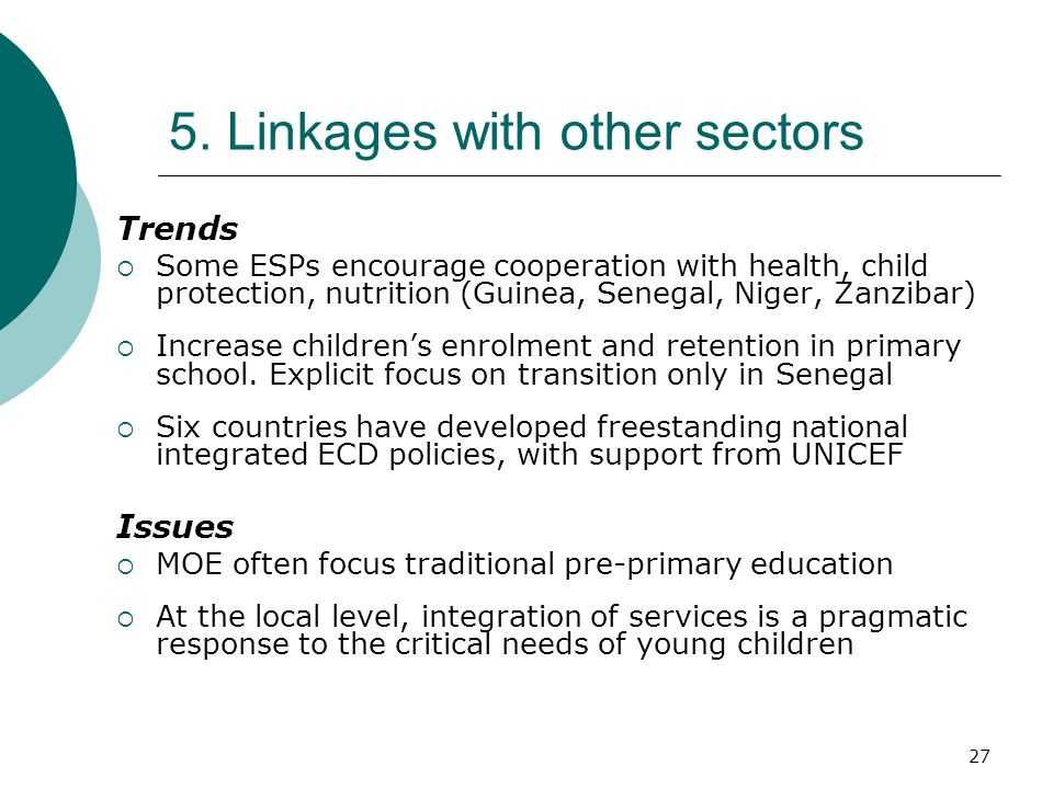 5. Linkages with other sectors