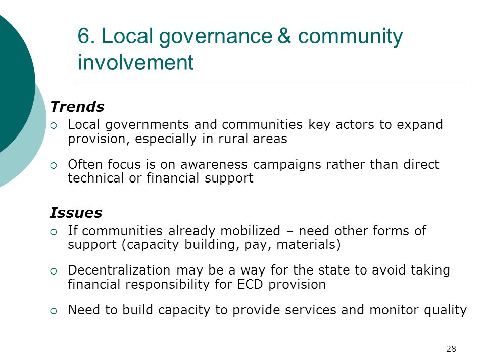 6. Local governance & community involvement