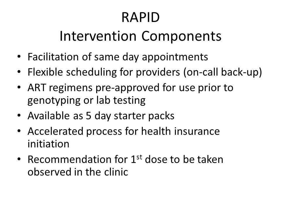 RAPID Intervention Components
