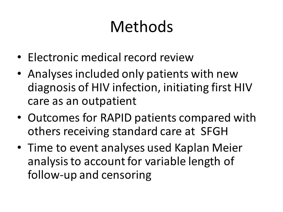 Methods Electronic medical record review