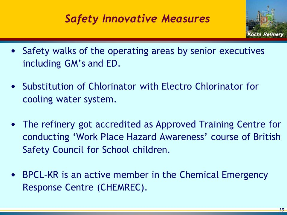 safety measures of chemical industry Process hazards and safety measures in equipment  the  chemical industry is more diverse than virtually any other process industry its  products.