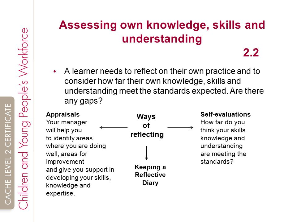 assessing own knowledge and skills by Demonstrates the skill online students are then required technology  knowledge self-assessment and pre-test performance among digital natives  keith r.
