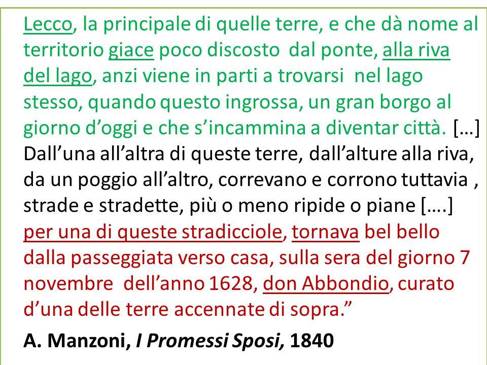 A. Manzoni, I Promessi Sposi, 1840
