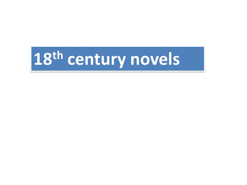 18th century novels