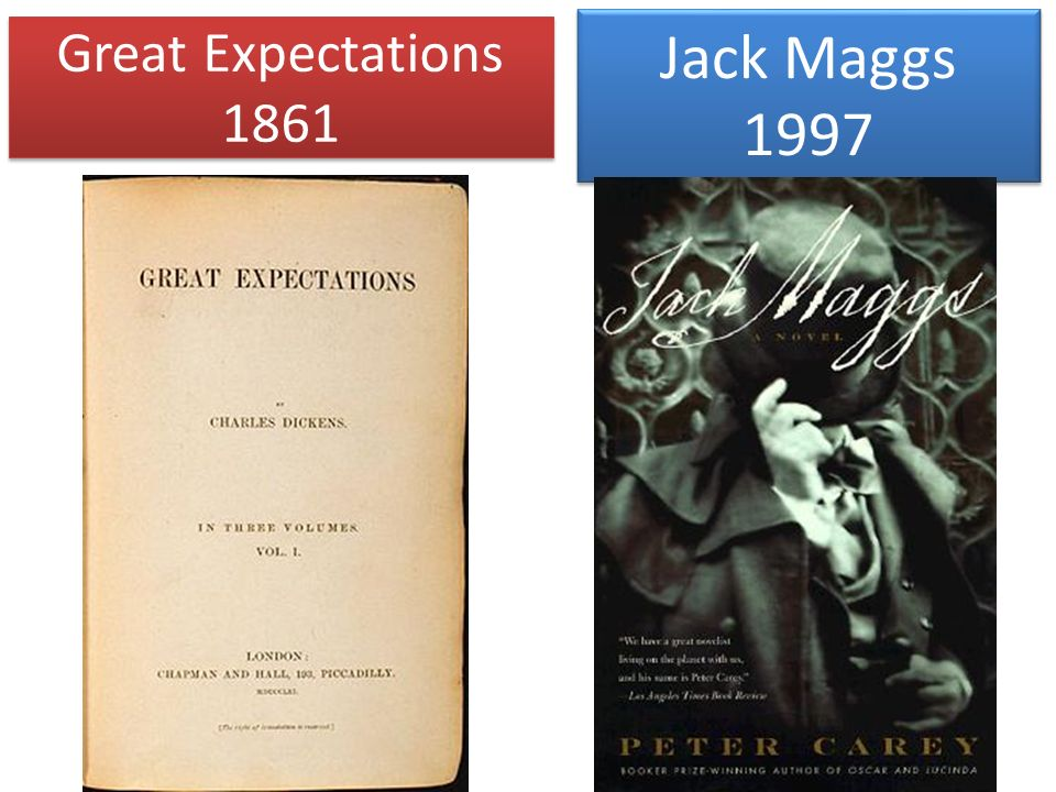 Jack Maggs 1997 Great Expectations 1861