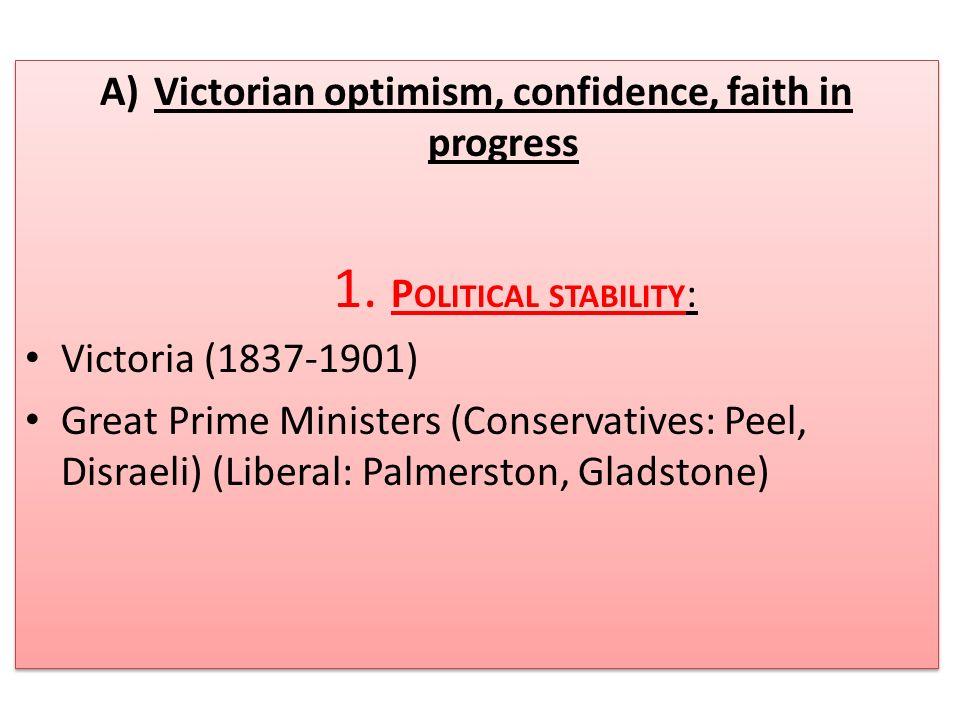Victorian optimism, confidence, faith in progress