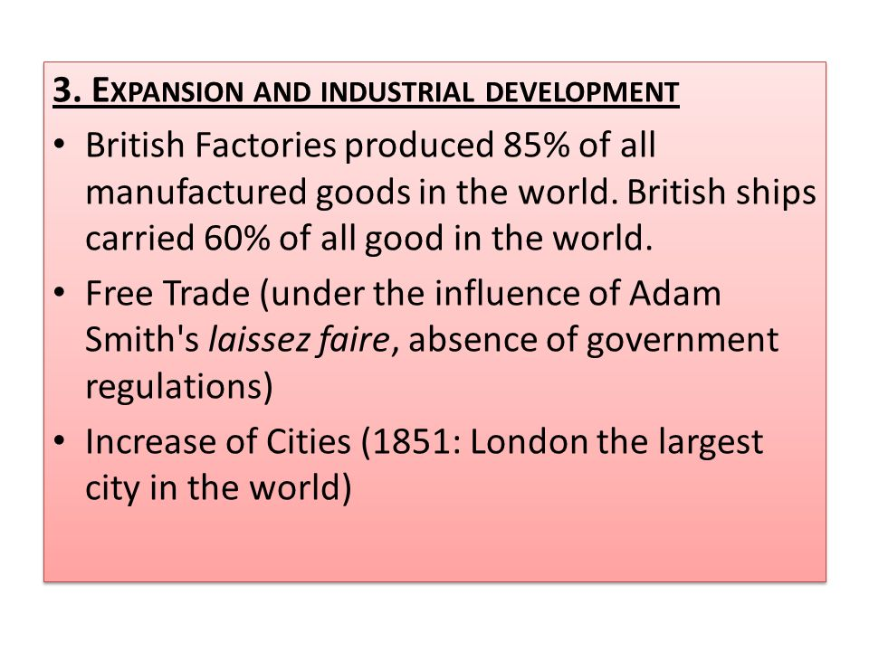 3. Expansion and industrial development