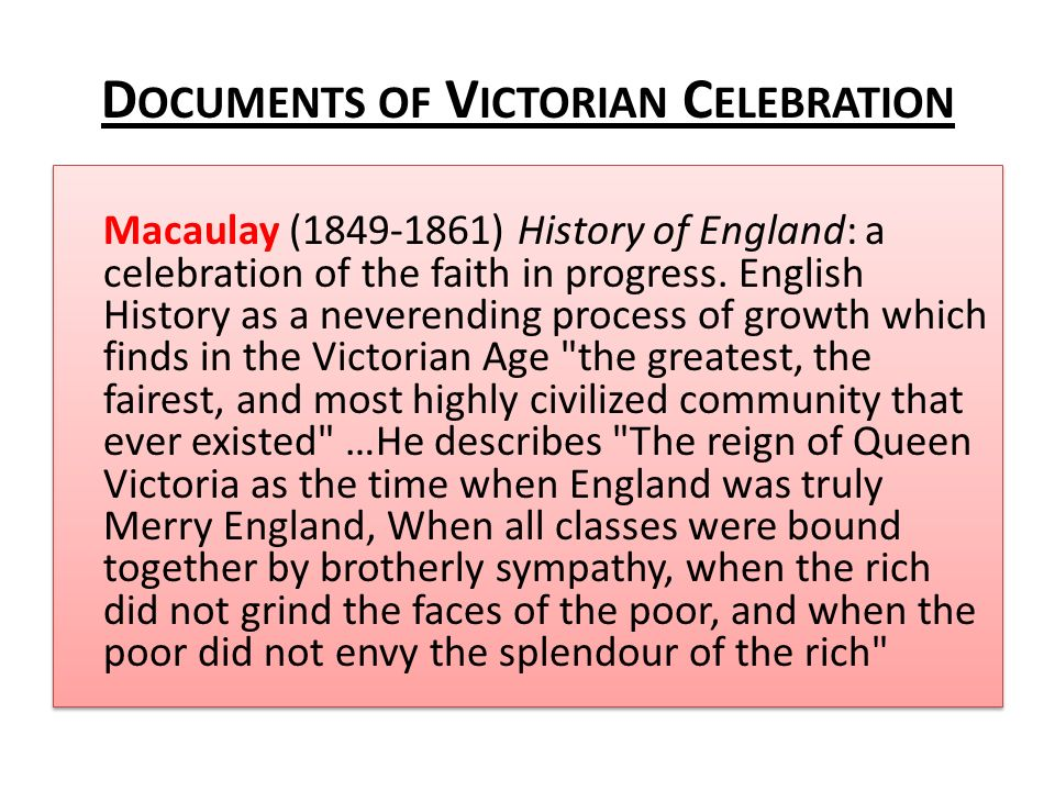 Documents of Victorian Celebration