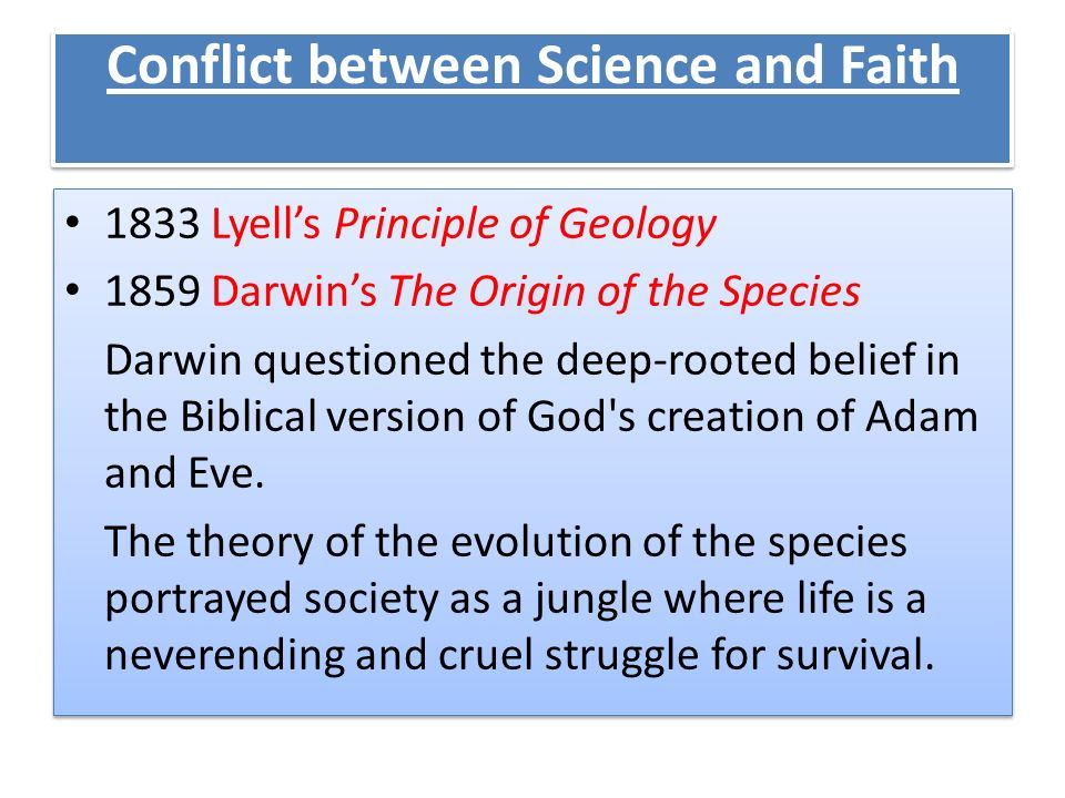 Conflict between Science and Faith