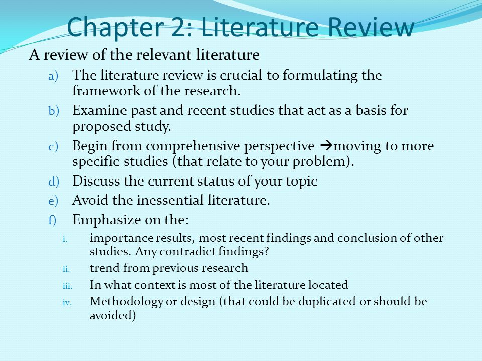 Dissertation literature review example research proposal
