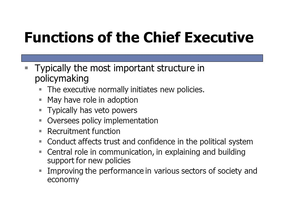 an analysis of the extent of the cabinets role in the political executive Influence in molding them through the preparation of briefs and analysis and   role of political executive cabinet to lindblom, the influence of 'proximate   extent, the fundamental rights also can be said to contain elements of policy.