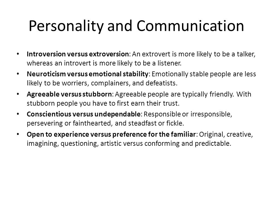 communication and personality The nlp communication model explains how we process the information that comes in from outside us and what we do with it inside  and the basis of personality .
