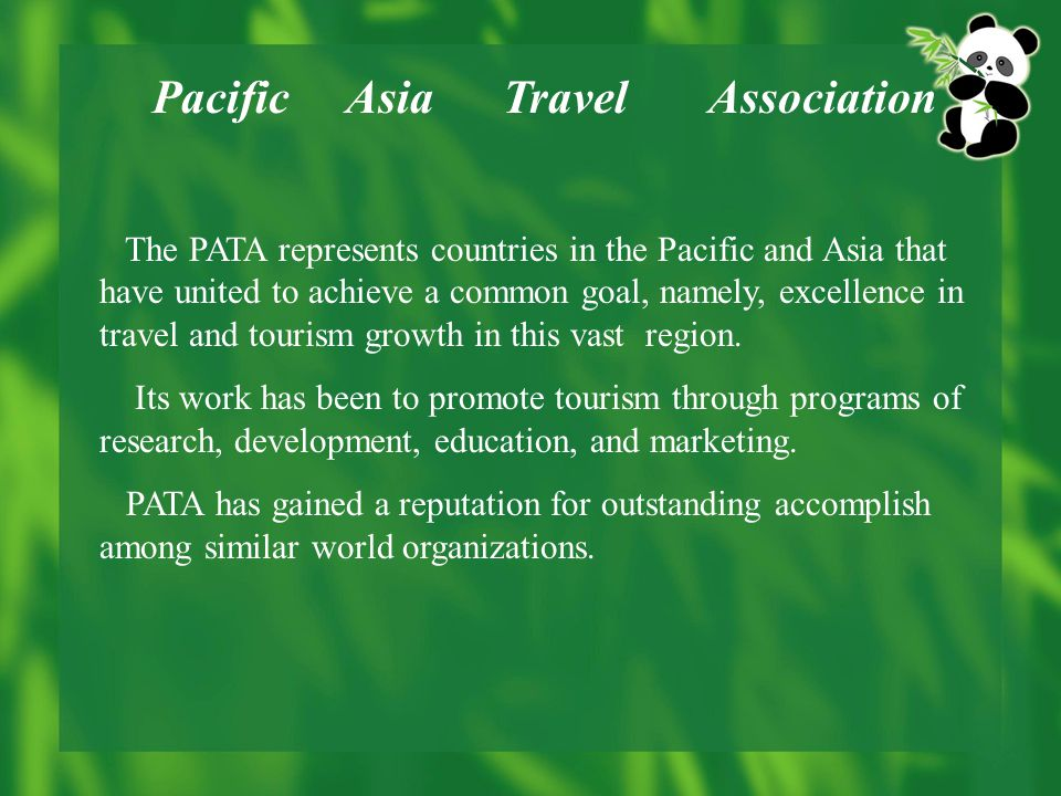 Chapter 6 tourism policy and organizations ppt video online download pacific asia travel association publicscrutiny Images
