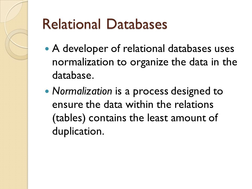 relational normalization Explore the major differences between relational and graph databases,  the  data stays remarkably similiar to the its form in the real world – small, normalized, .