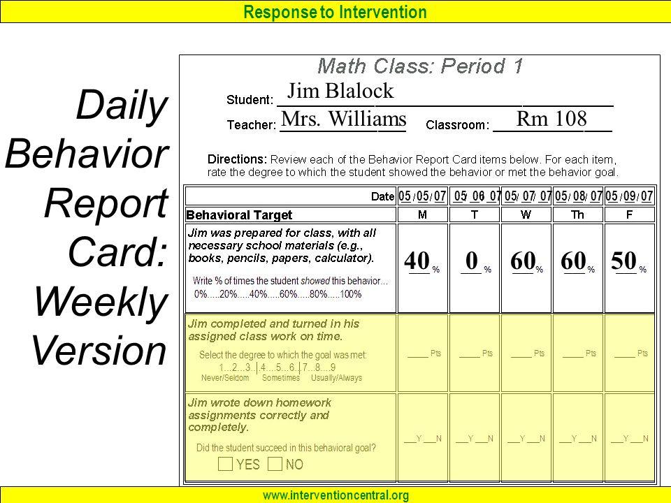 daily behavior report card pdf
