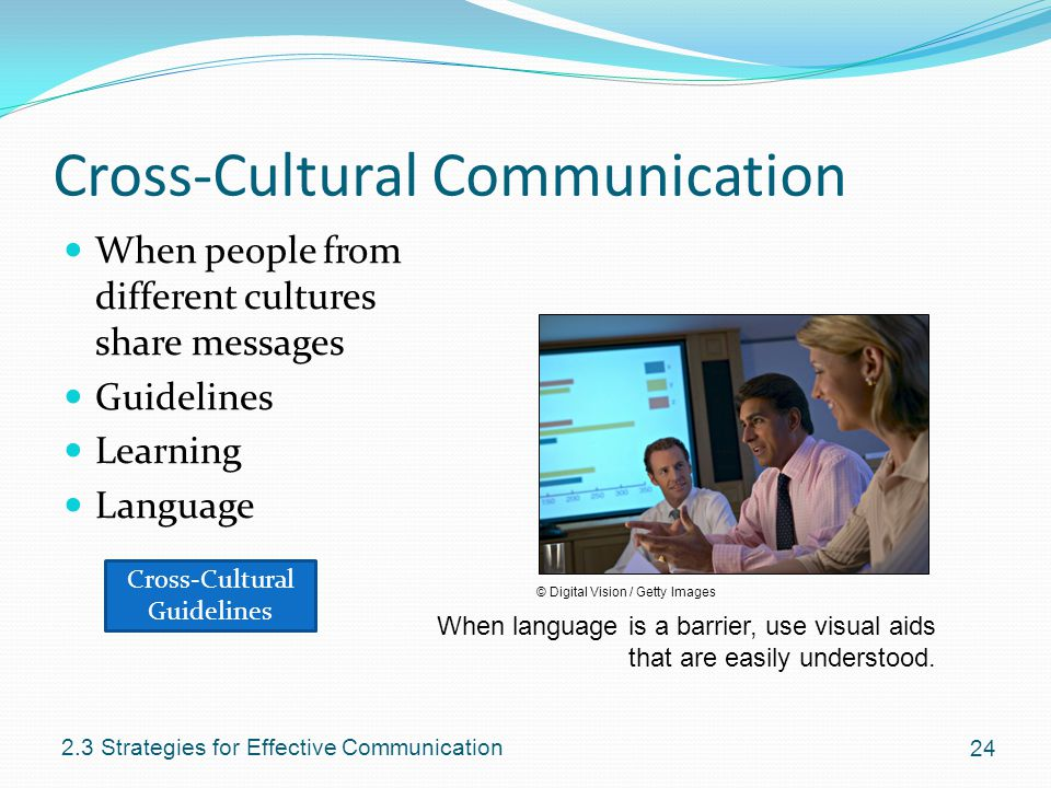 strategies to increase cross cultural communication Regardless of the culture, successful interactions across cultures are built on  respect, trust and the ability to communicate effectively use the.