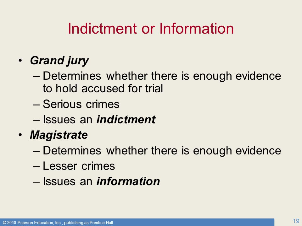 Indictment or Information