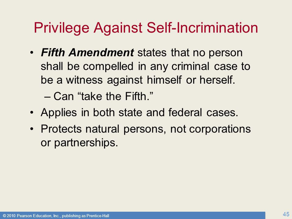 Privilege Against Self-Incrimination