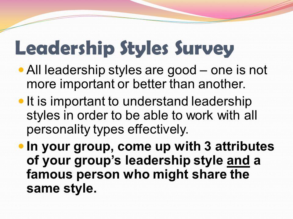 Leadership Styles Survey