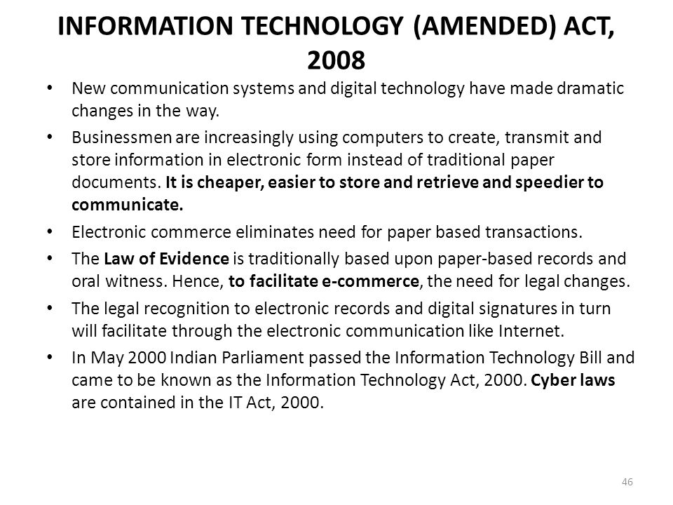 information technology acts paper Information technology acts paper information technology acts paper author author's affiliation date introduction at the present, we live in an age where inform.