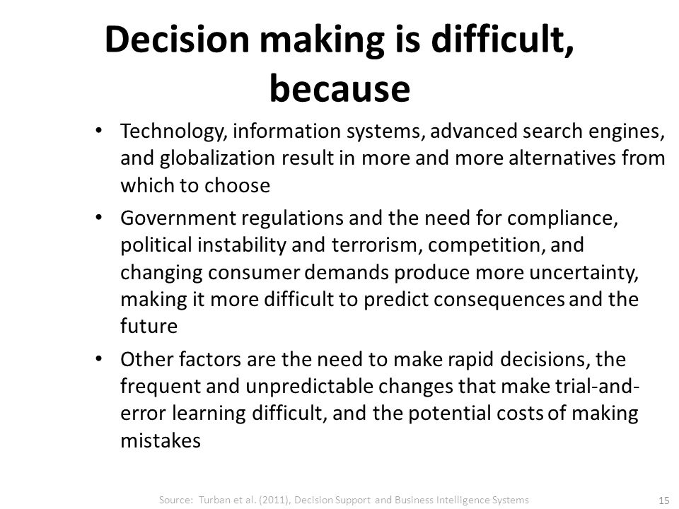 why is making rational decision difficult Decision making under risk is presented in the context of decision analysis using different decision  rational decision making  making them difficult.
