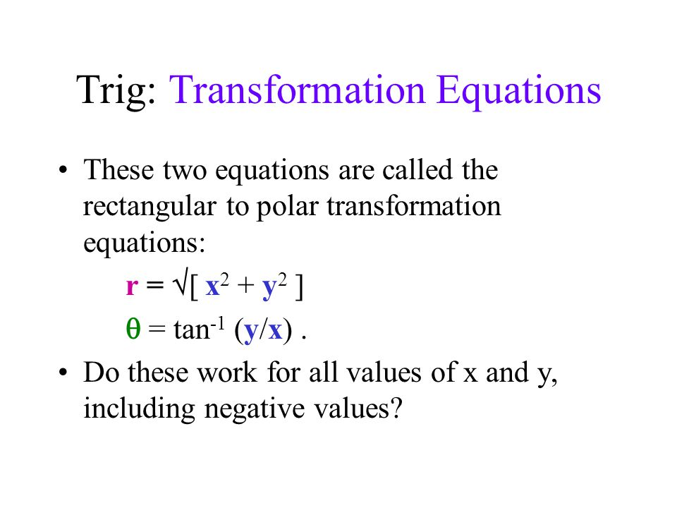 how to write an equation for a transformation