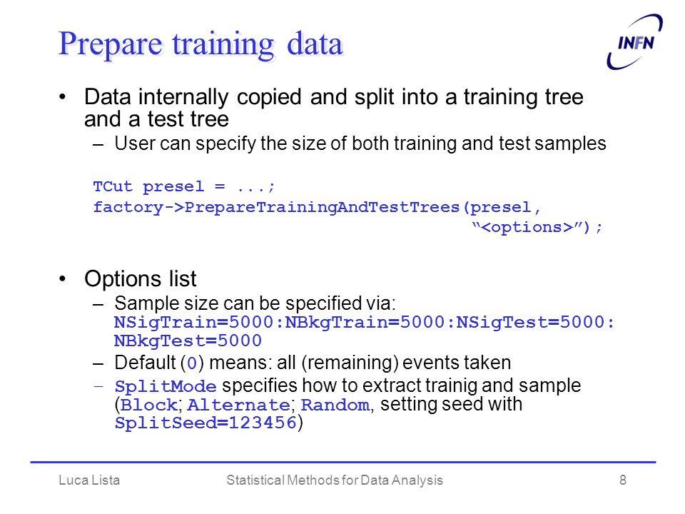 Statistical Methods for Data Analysis